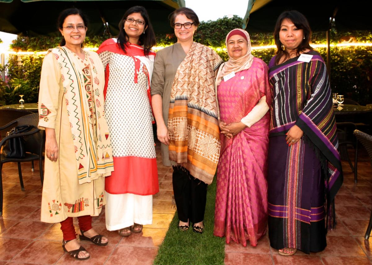 rom left to right: Dr Biswas Karabi, Salma Khuky, Australian High Commission Bangladesh's former Deputy Head of Mission Sally-Anne Vincent,  Dr Salina Banu and Jhuma Dewan